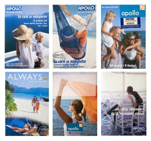 Covers for travel magazines