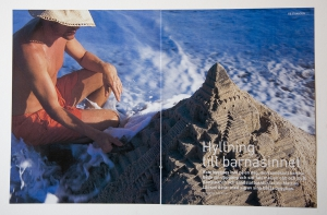 Photo reportage in travel newspaper